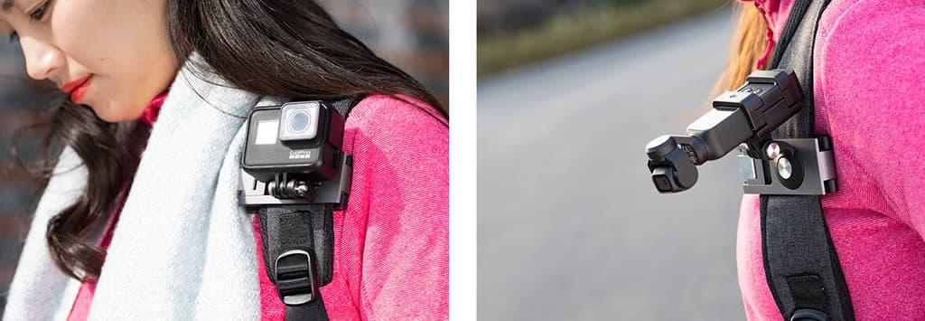 مانت اتصال به کوله دوربین ورزشی