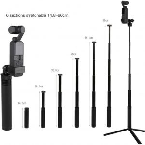 Sunnylife-Aluminum-Alloy-14-Adapter(black or red)+Aluminum-Alloy-Tripod+Aluminum-Alloy-Extending-Rod-5