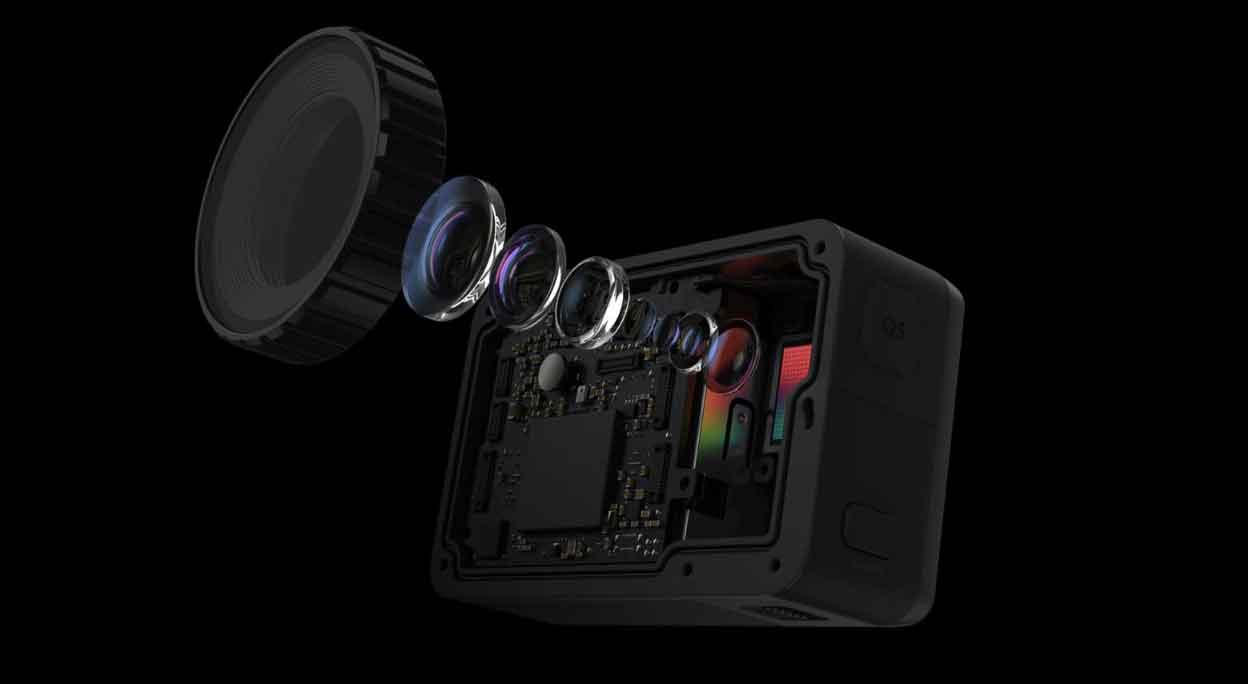 لنز 3 لایه ای دوربین اسمو اکشن