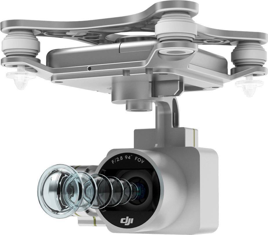 دوربین و گیمبال ۳ محوره در کوادکوپتر فانتوم ۳ SE