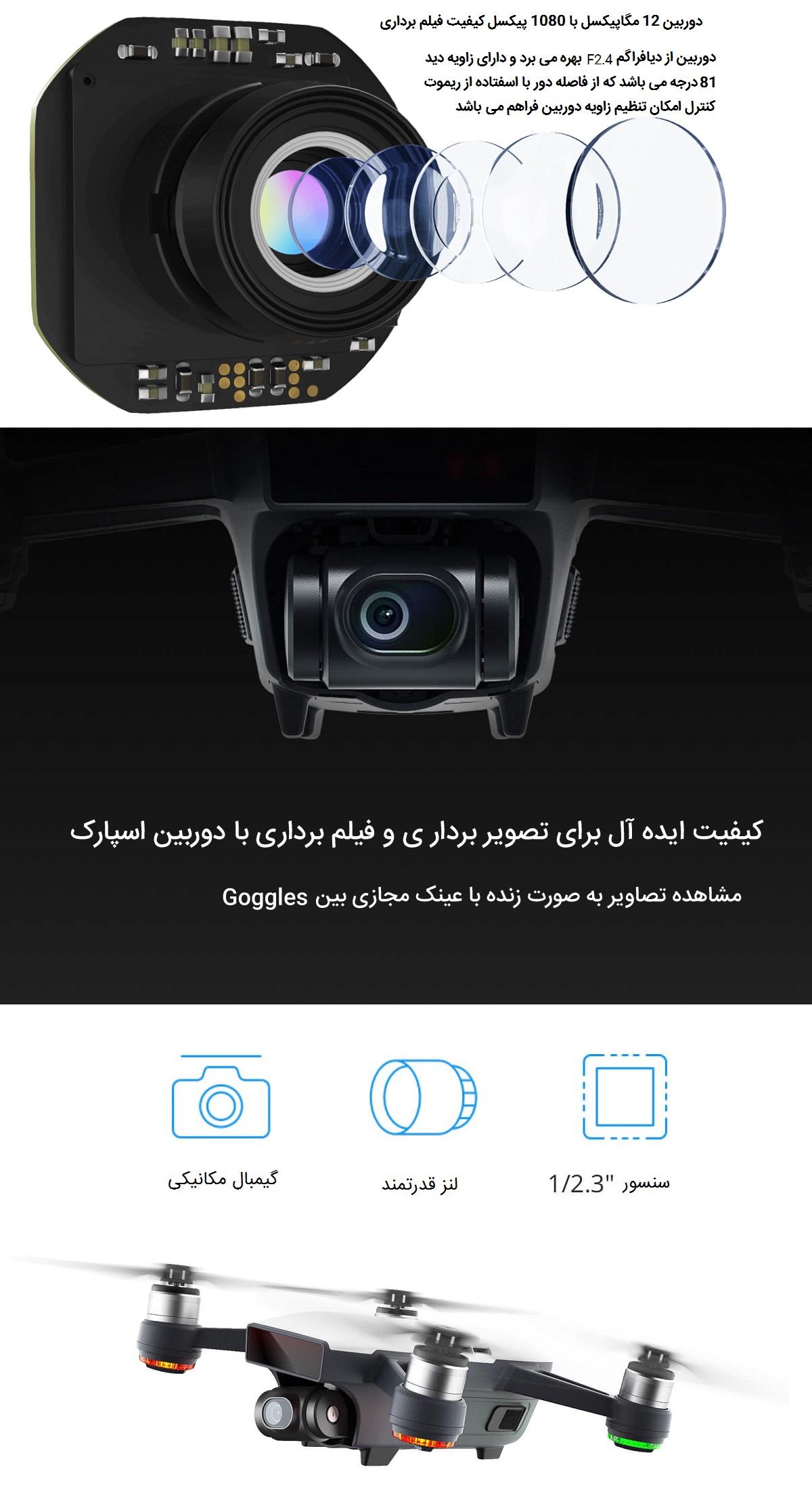 ثبت تصاویر حرفه ای با دوربین پیشرفته اسپارک